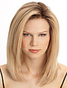 blonds capless couleur pleine chaleur perruque mode resistant aspect naturel