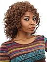 courte afro boucles bruns cheveux d\'onde et de couleur auburn perruques synthetiques pour les femmes