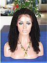8a mongoliska kinky lockigt spets front människohår peruker limfria afro kinky lockigt peruk för svarta kvinnor afro lockigt frontal