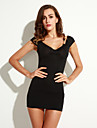 curea backless rochie mini, altele femei sexy negru / bodycon