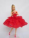 Fete / Soiree Robes Pour Poupee Barbie Rouge Lace Robes Pour Fille de Doll Toy