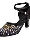 Chaussures de danse(Noir / Marron / Rouge) -Personnalisables-Talon Bottier-Cuir-Latine / Jazz / Baskets de Danse / Moderne