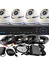 yanse® 4ch DVR Kit ir camera dome couleur systeme de cameras de securite CCTV 960H 1000tvl 808cf04