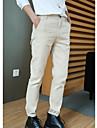 Bărbați Larg Simplu Talie Medie,Micro-elastic Pantaloni Chinos Pantaloni Mată