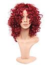 mode rihanna charmante perruques frisees crepus perruques vin boucles afro-americain crepus rouge courts cheveux synthetiques