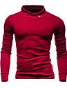 Bărbați Casul/Zilnic / Sporturi Simplu(ă) / Activ Regular Hoodies-Mată Albastru / Roșu / Gri Manșon Lung Stand Poliester Toamnă / Iarnă