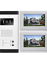 High Definition Camera Multi Apartment Video Door Phone Intercom System 1 Camera with 2 Monitors