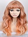 europe et les Etats-Unis Mode feminine nouvelle annee liu qi hai Omber brun vague jaune haute temperature fil perruque