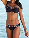 Femei Bikini Femei Cu Susținere Floral / Geometrică Polyester