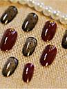 24 stycken av hyckleri spik remsor nagelprodukt våg av vinröd färgblandning
