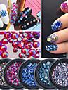 1Box Nail Art Decoration Strass Pearls makeup Kosmetisk Nail Art Design