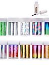 10 Autocollant d\'art de clou Autocollants 3D pour ongles Feuille de bandes de denudage Abstrait Maquillage cosmetique Nail Art Design