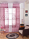 Un Panou Tratamentul fereastră European , Floare Sufragerie Poliester Material Sheer Perdele Shades Pagina de decorare For Fereastră