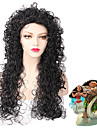 svart / grå ombre färg våg skönhet naturlig peruk för europeiska och amerikanska kvinnor dagligen bär värmebeständigt mode ny design