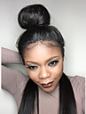 8a lång rak limfria spets front människohår peruker brasilianska jungfru hår med baby hår för kvinnor