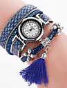 Femme Bracelet de Montre Quartz / Strass Polyurethane Bande Boheme Charme Bracelet Noir Blanc Rouge Rose Marque