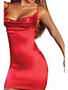 Feminin Ultra Sexy Pijamale,Mediu Spandex-Sexy Solid Roșu / Negru