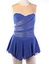 Robe de Patinage Femme Sans manche Patinage Robes Haute elasticite Robe de patinage artistique Respirable / Vestimentaire DentelleSpandex
