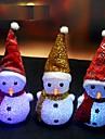 1pcs changeant de couleur conduit bonhomme de neige de noel decorer humeur noel nuit lumiere de la lampe arbre pendaison couleur ornement
