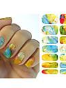 1PCS Sticker Manucure  Autocollants de transfert de l\'eau Maquillage cosmetique Manucure Design