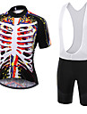 WOLFKEI Summer Cycling Jersey Short Sleeves BIB Shorts Ropa Ciclismo Cycling Clothing Suits #11