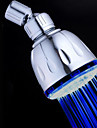 Contemporain Douche pluie Chrome Fonctionnalite for  LED / Effet pluie / Ecologique , Pomme de douche
