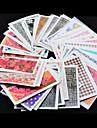 50 Autocollant d\'art de clou Bouts  pour ongles entiers Autocollants de transfert de l\'eau Bande dessinee Fleur Adorable Mariage