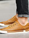 Svart / BrunHerr-Komfort-PU-Fritid-Sneakers