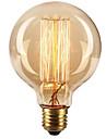 Ecolight® e27 40w 2700k blanc chaud mignon retro lampe incandescente bulbe edison (ac220 ~ 265v)