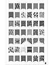 42 mönster nagel konst stämpel stämpling plåt image mall