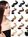 Människohår förlängningar Mänskligt hår 40-50 16,18,20,22,24 Hårförlängning