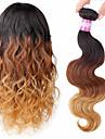 A Ombre Cheveux Peruviens Ondulation naturelle 1 Piece tissages de cheveux
