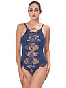 Feminin Lenjerie din Dantelă Ultra Sexy Teddy Pijamale,Subțire Polyester-Dantelă Imprimeu Galaxie Albastru