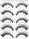 5 pairs ögonfransar Ögonfrans Hela ögonfransar Ögonfrans Korsvis / Naturligt långa / Förlänger ögonkanten / Änden är längreFörlängda /