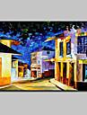 Peint a la main Paysage Paysages Abstraits Peintures a l\'huile,Moderne Un Panneau Toile Peinture a l\'huile Hang-peint For Decoration