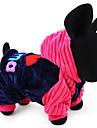 Chien Pulls a capuche Vetements pour Chien Decontracte / Quotidien Garder au chaud Lettre et chiffre Bleu Rose
