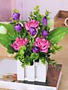 Une succursale Polyester Roses Fleur de Table Fleurs artificielles 25cm*20cm*20cm