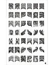 42 motif plaque nail art estampage timbre image modele