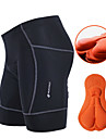 NUCKILY® Cuissard Rembourre de Cyclisme Homme Respirable La peau 3 densites Bandes Reflechissantes VeloCuissard / Short Shorts Rembourres