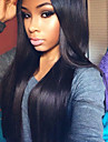 Femme Perruque Naturelles Dentelle Cheveux humains Lace Front Sans Colle Lace Front 120% Densite Raide Perruque Noir Court Mi Longue Long