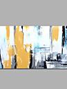HANDMÅLAD Abstrakt / fantasi olje,Moderna / Medelhavet En panel Kanvas Hang målad oljemålning For Hem-dekoration