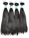 Tissages de cheveux humains Cheveux Peruviens Droit 4 Pieces tissages de cheveux