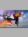 Peint a la main Abstrait Horizontale,Moderne Un Panneau Peinture a l\'huile Hang-peint For Decoration d\'interieur