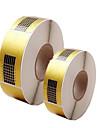500pcs manikyr verktyg pappershållare fyrkantiga papper akryler förlängning papper ljusterapi förlänga ett paket