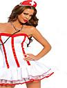 Costumes de Cosplay Costume de Soiree Costumes de carriere Infirmiere Fete / Celebration Deguisement d\'Halloween Blanc Couleur PleineJupe