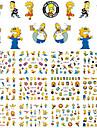 1sets, 12designs Nail Sticker Art Autocollants de transfert de l\'eau Maquillage cosmetique Nail Art Design