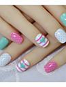 24 stycken av falska bruden nagel naglar produkter nagelprodukt våg mellanmål hjärta lösnaglar produkter