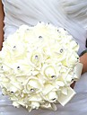 Wedding Flowers Round Roses Bouquets Wedding Party/ Evening Satin Foam Rhinestone