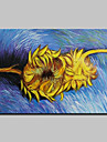 Pictat manual Faimos Floral/Botanic Picturi de ulei,Clasic Tradițional Un Panou Canava Hang-pictate pictură în ulei For Pagina de decorare
