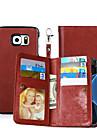 Pentru Titluar Card / Portofel / Cu Stand / Întoarce / Magnetic Maska Corp Plin Maska Culoare solida Greu PU piele SamsungS6 edge plus /